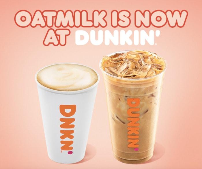 Vegan Dunkin Donuts - oat milk