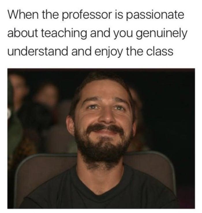 Wholesome Memes - professor is passionate meme