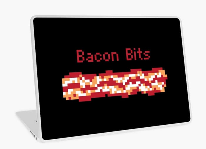 Bacon Puns - Bacon Bits Laptop Cover