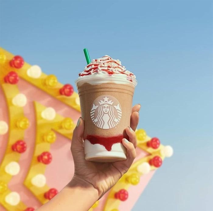 Starbucks Summer Drinks - Strawberry Funnel Cake Frappuccino