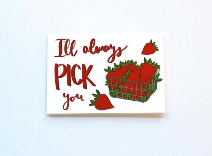 Berry Puns - I'll always pick you card