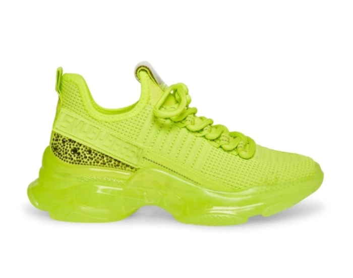 Cool Sneakers for Women - Steve Madden Maxima Lime
