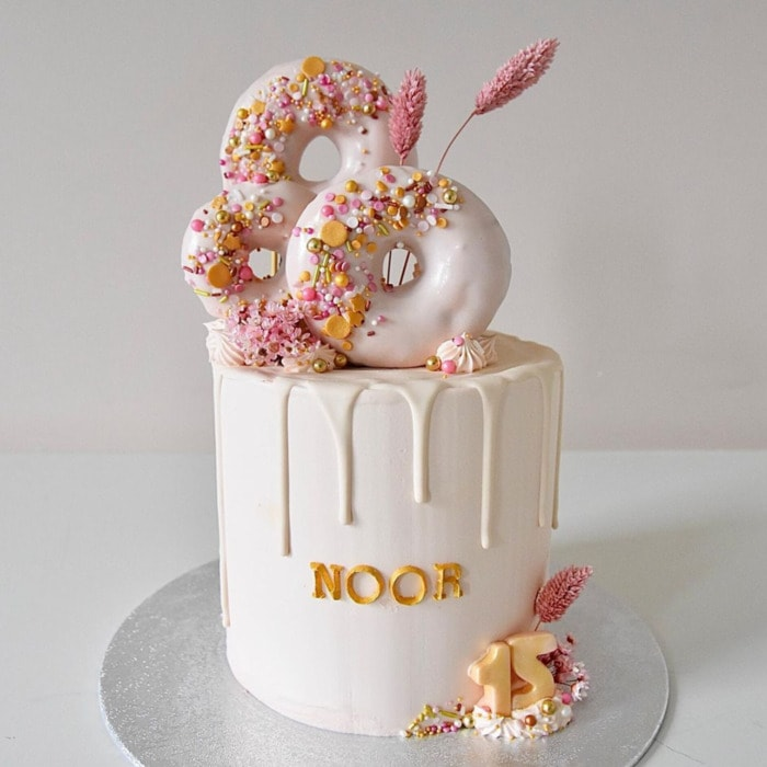 Donut Cakes - Pink Birthday Donut Cake