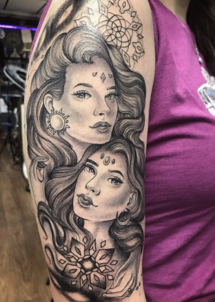 Gemini Tattoos - two women