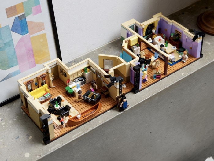 Lego Friends Apartments - full set on table