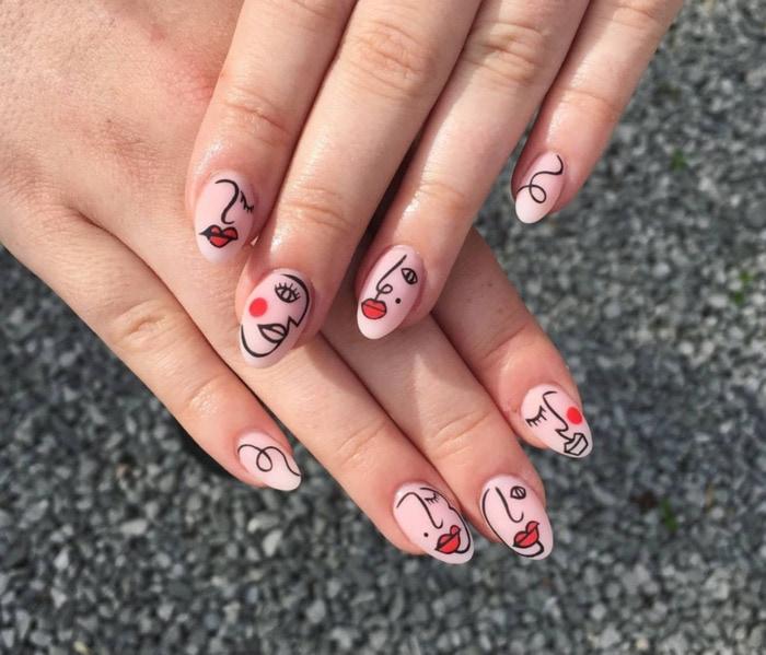 Nail Designs - Picasso line art