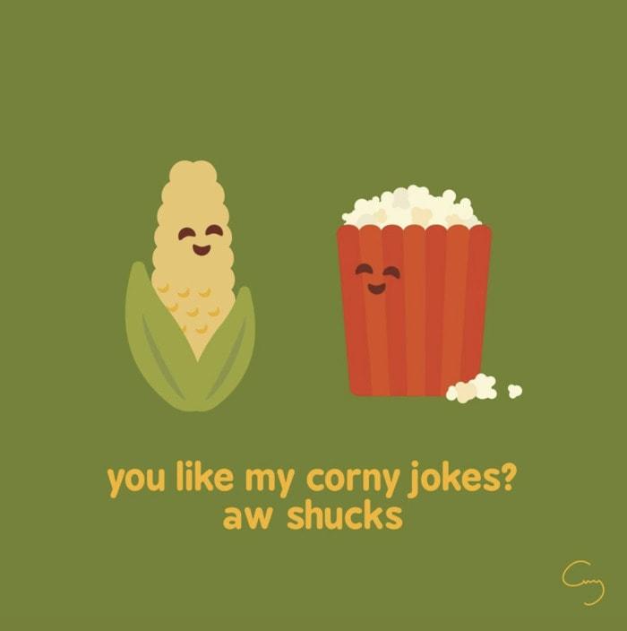 Popcorn Puns - corny jokes aw shucks