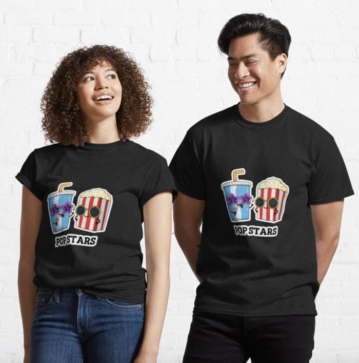 Popcorn Puns - pop stars shirt