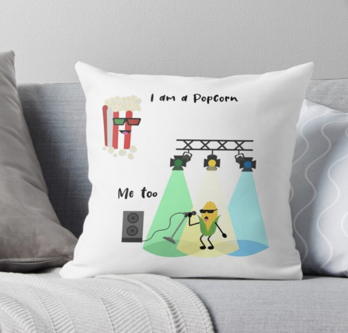 Popcorn Puns - I am a pop corn pillow