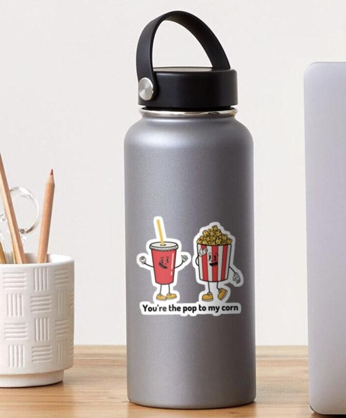 Popcorn Puns - the pop to my corn sticker
