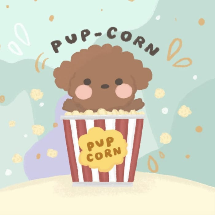 Popcorn Puns - pup-corn