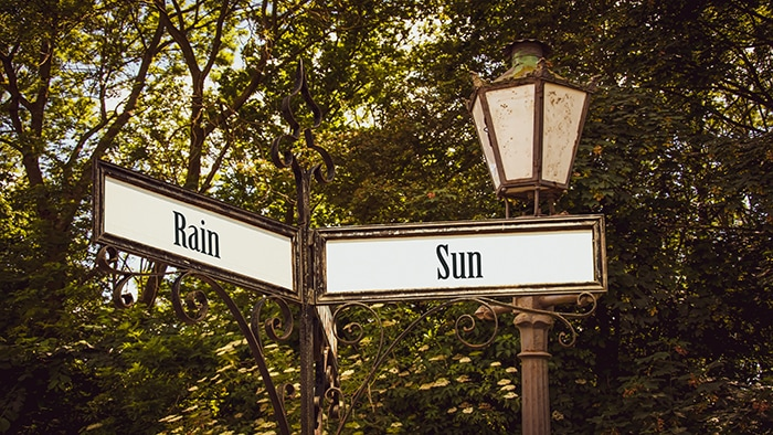 Adult Dirty Jokes - weather sign rain sun