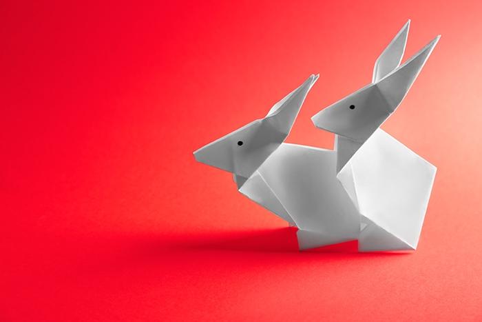 Adult Dirty Jokes - Origami Rabbits having sex
