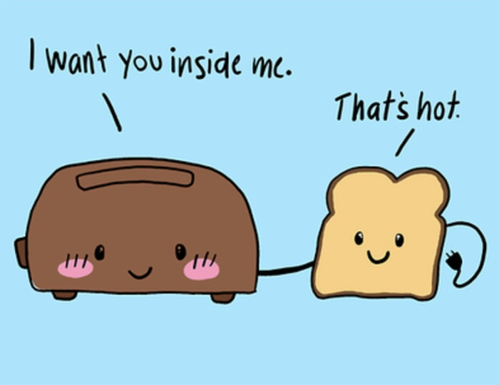 Adult Dirty Jokes - I want you inside me that's hot toast pun