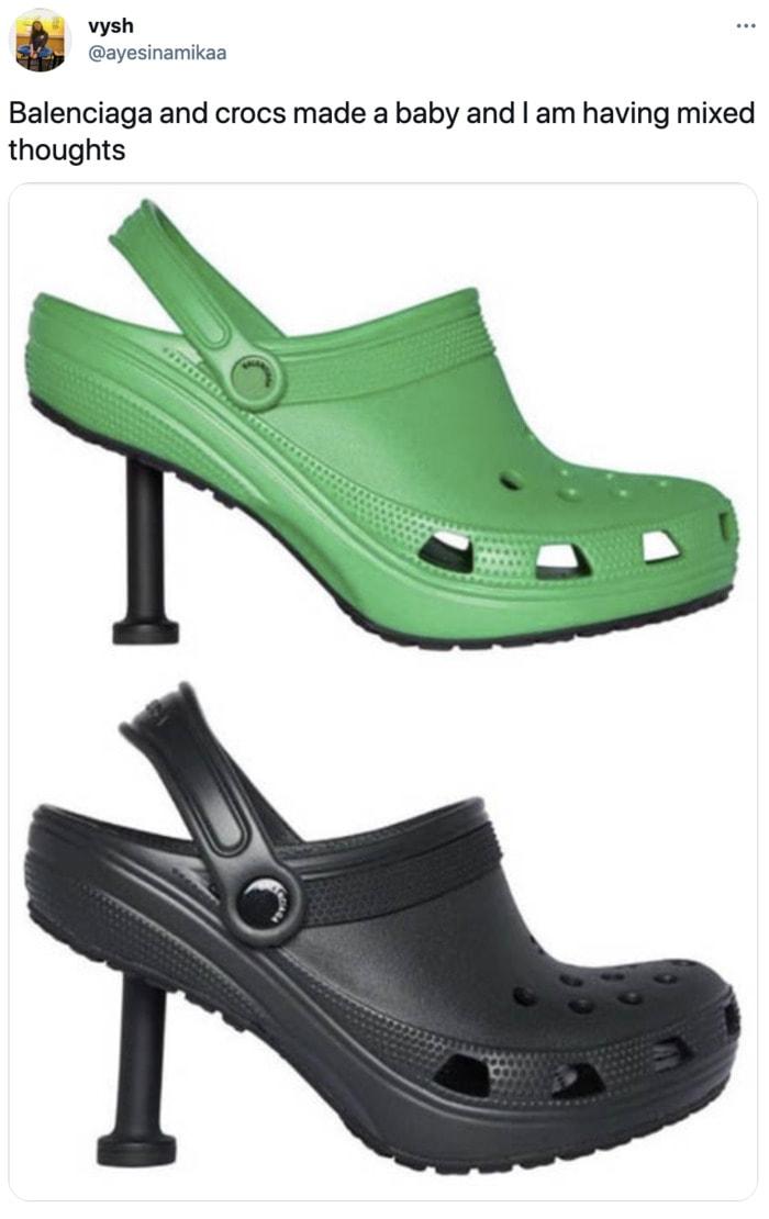 Balenciaga Stiletto Crocs - versions