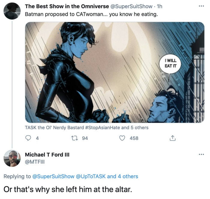 Batman Going Down on Catwoman - proposal