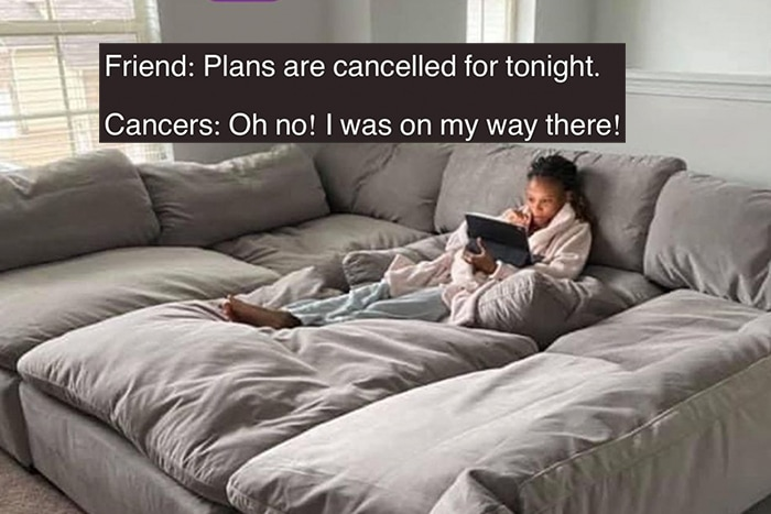 Cancer Zodiac Sign Memes - in bed plans