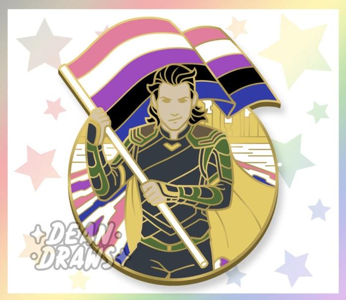 Loki Gift Guide - Gender Fluid Pin