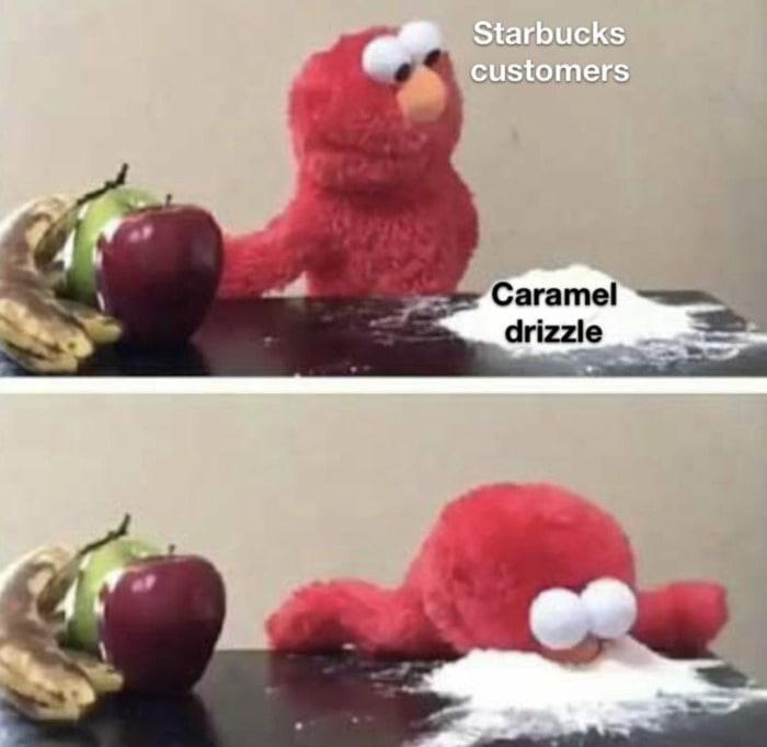 Starbucks Memes Tweets - caramel drizzle