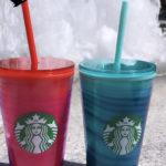 Starbucks Summer Cups June 22 - Red Green Wave