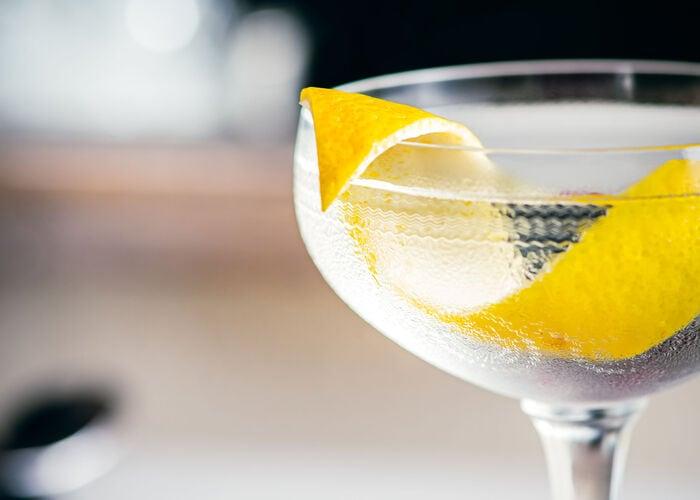 Vesper Cocktail closeup