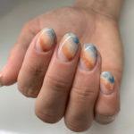 Beach Nail Art - sandy beach nails