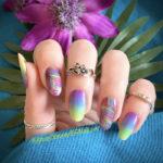 Beach Nail Art - tropical punch nail wraps