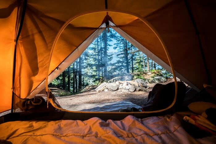 Camping Sex - large open tent