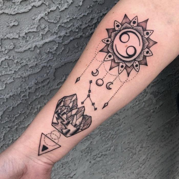 Cancer Zodiac Tattoo - Cancer sign glyph tat