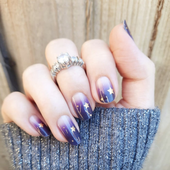 Ombre Nails - Purple nail wraps