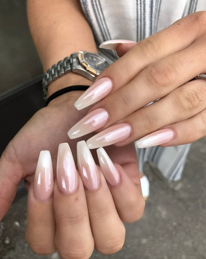 Ombre Nails - ombre acrylic nails