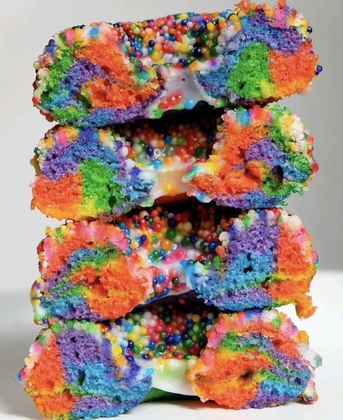 Rainbow Donuts - Cake Donuts with Sprinkles