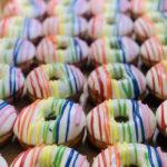 Rainbow Donuts - Striped Rainbow Donuts