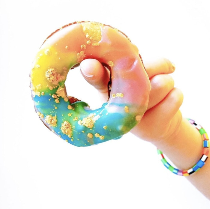 Rainbow Donuts - Gold Glitter Pastel