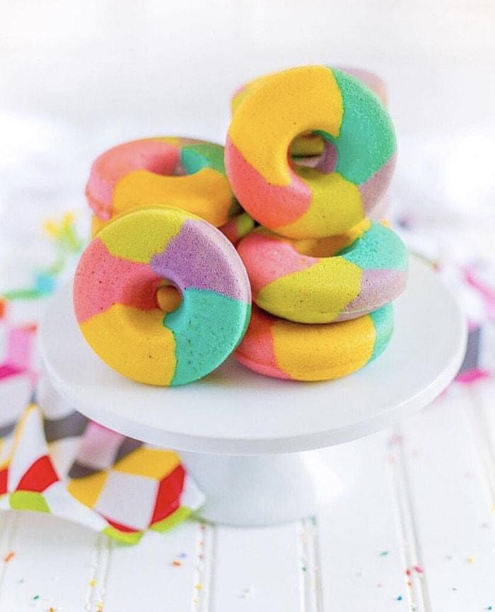 Rainbow Donuts - Baked Art Donuts
