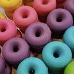 Rainbow Donuts - Rainbow donut tray