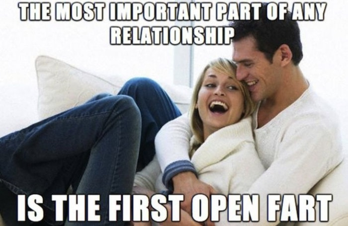 Relationship Memes - the first fart in a relationship