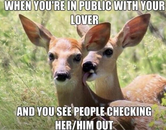 Relationship Memes - see someone checking him out
