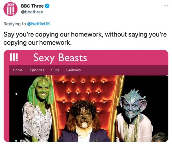 Sexy Beasts Tweets - copying homework