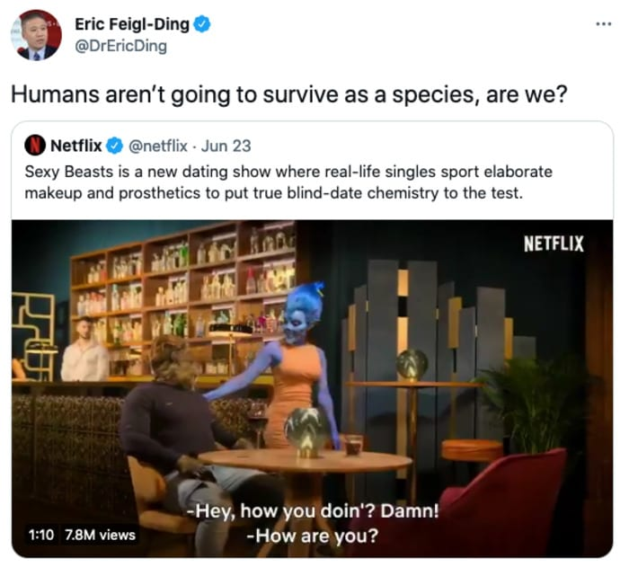 Sexy Beasts Tweets - humans won't survive