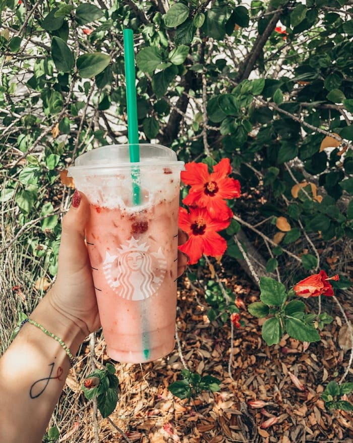 Starbucks Secret Menu Refreshers - Pink Starburst Drink