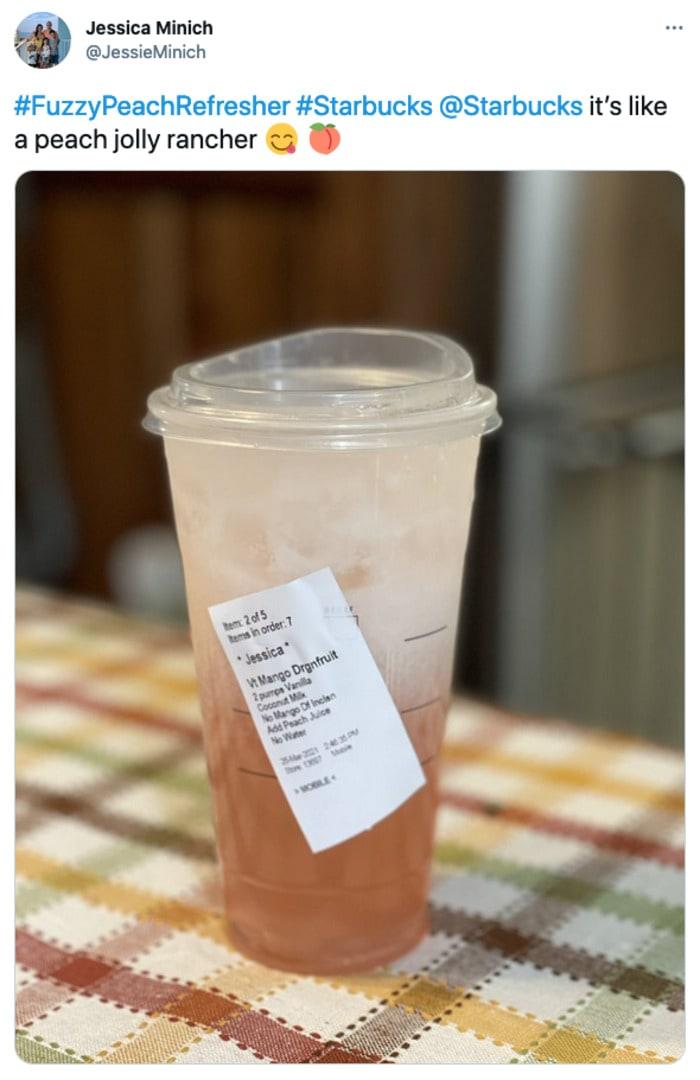 Starbucks Secret Menu Refreshers - Fuzzy Peach Drink