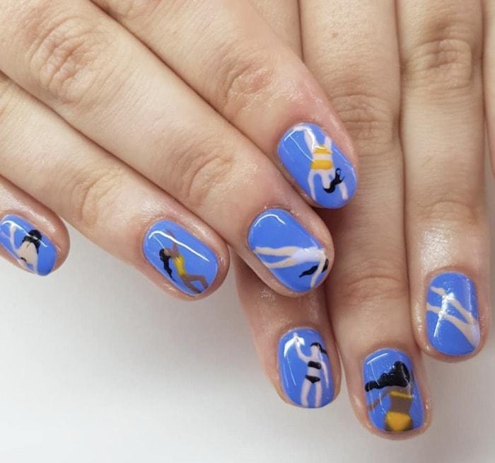 Summer Nail Designs - swimming nails