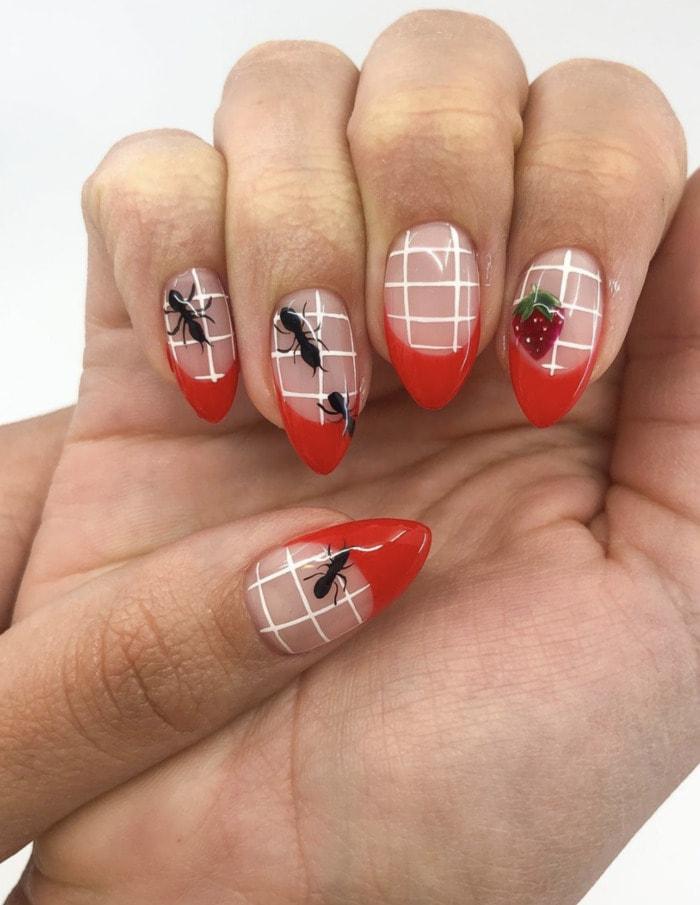 Summer Nail Designs - picnic nails