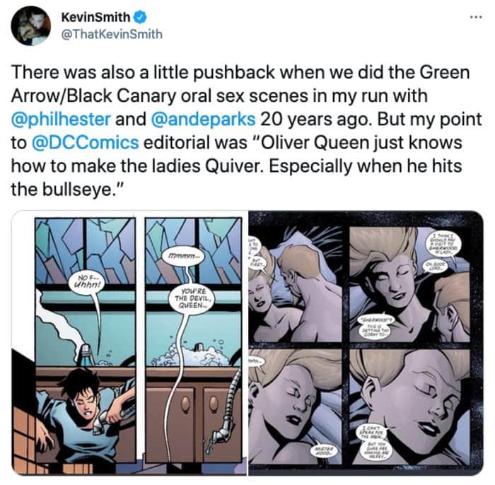Which Superheroes Give Head - Green Arrow tweet