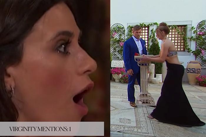 Awkward Bachelor Bachelorette Moments - virginity Luke moving podium