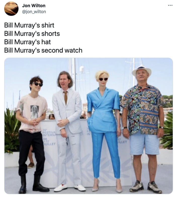 Bill Murray Photo Cannes - watches