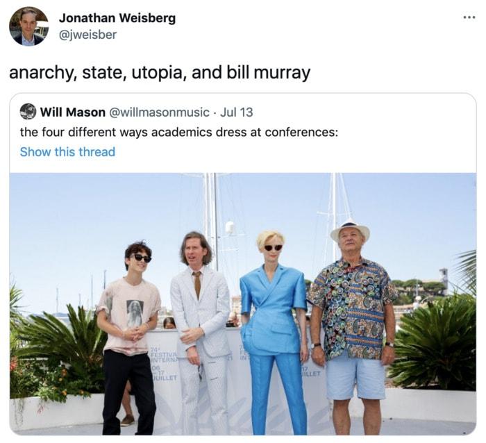 Bill Murray Photo Cannes - utopia