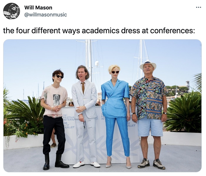 Bill Murray Photo Cannes - how academics dress at conferences