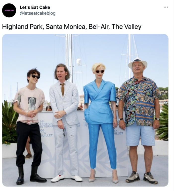 Bill Murray Photo Cannes - los angeles neighborhoods